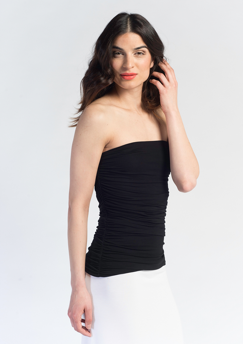 Ruched Tube Top Gracie Clothing